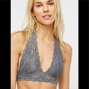 Free People Galloon Lace Halter Bra, size M